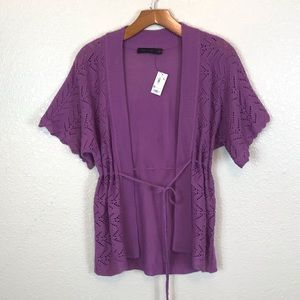 NWT The Limited Crochet Knit Tie Front Cardigan